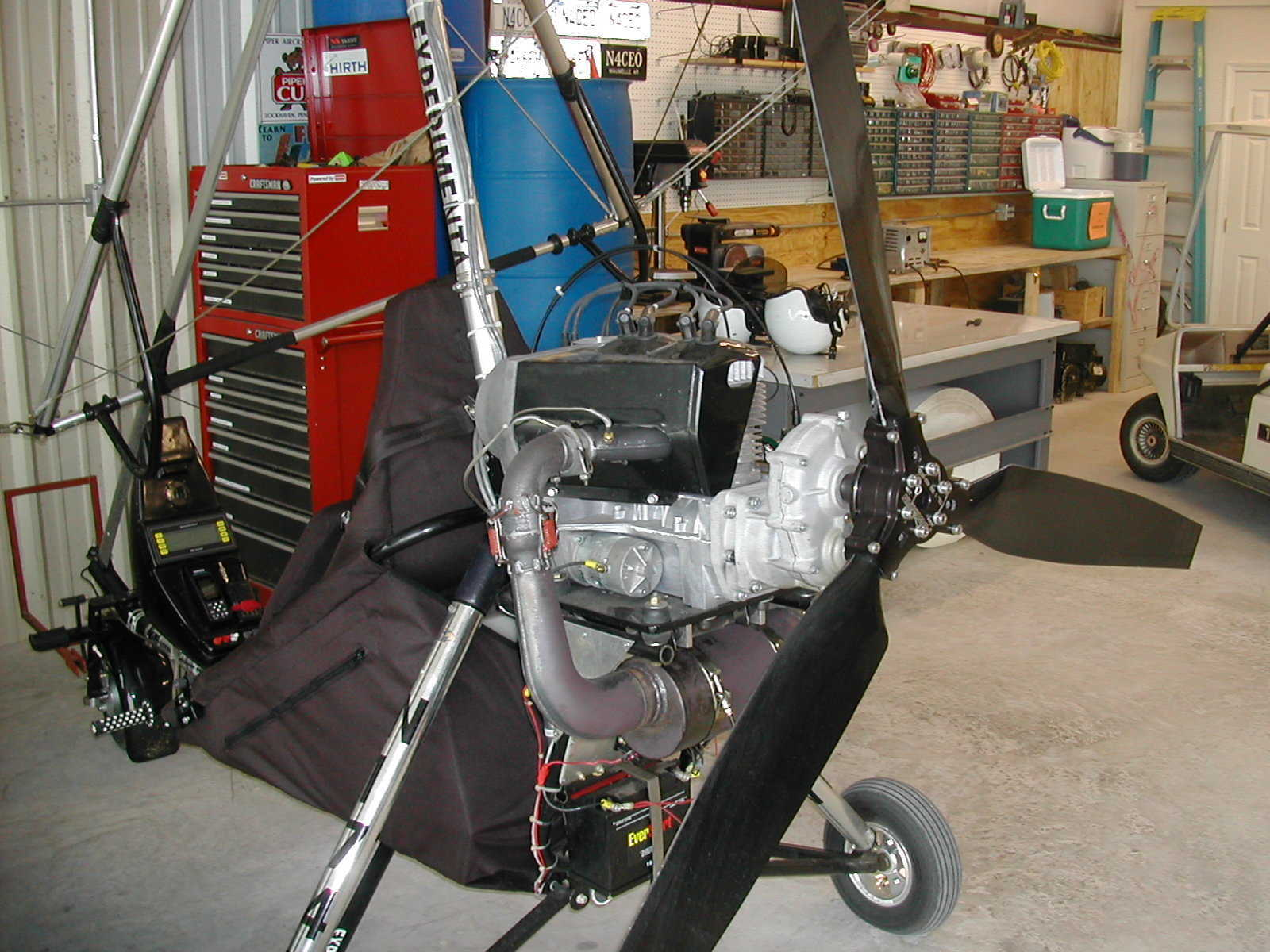 As a replacement option for the Rotax 503 in a Tryke, the Hirth 3202 offers lighter weitht, with greater horsepower and torque at a lower rpm. This allows cruising with less vibration, lower noise levels, creating greater fuel economy and longer TBO